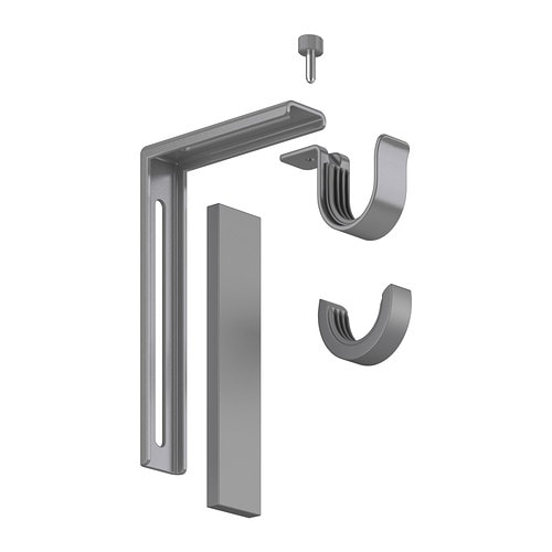 BETYDLIG Wall/ceiling bracket - silver color - IKEA