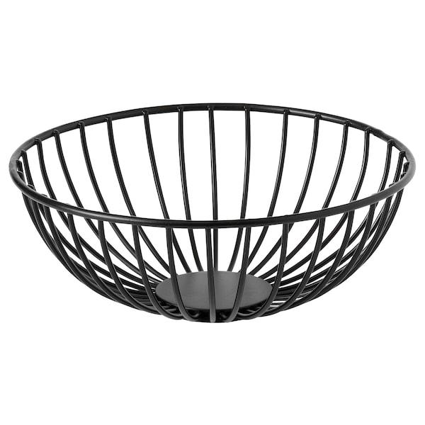 "BETYGA Decorative bowl, black, 8 """
