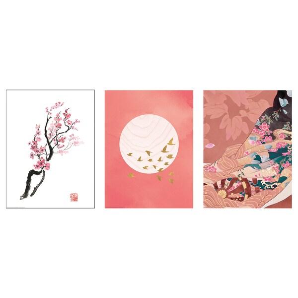 """BILD Poster, Cherry blossom branch, 12 ¼x16 ¼ """""""