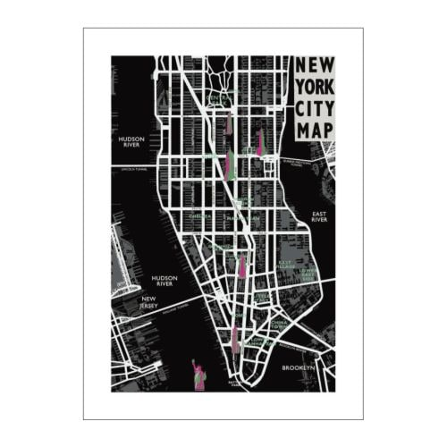 "BILD Poster, New York city map Width: 27 ½ "" Height: 39 ¼ ""  Width: 70 cm Height: 100 cm"