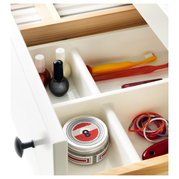 BILLINGEN Drawer insert, white, 12 ¾x6 ¾ ""