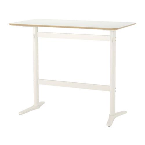 BILLSTA Bar table, white, white