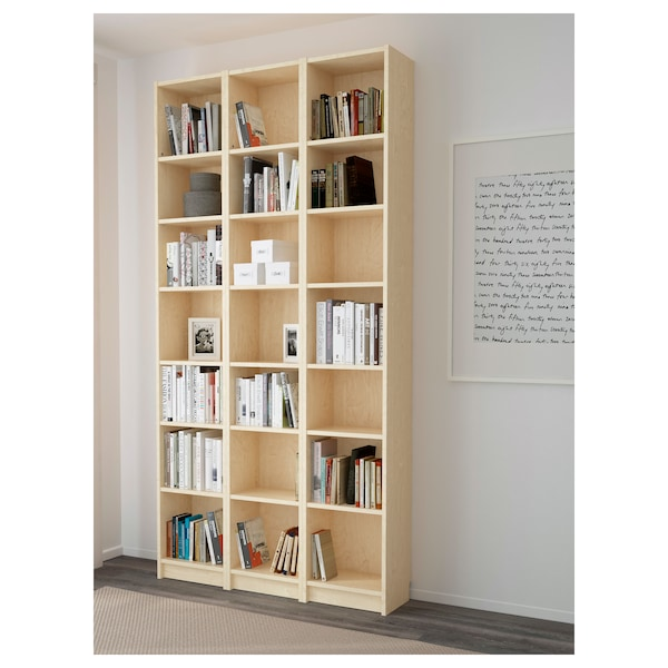 "BILLY Bookcase, birch veneer, 47 1/4x11x93 1/4 """