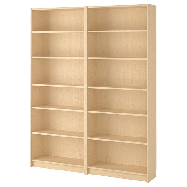 "BILLY Bookcase, birch veneer, 63x11x79 1/2 """