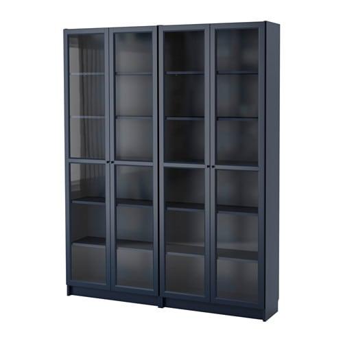 billy bookcase dark blue ikea. Black Bedroom Furniture Sets. Home Design Ideas