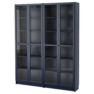 """BILLY Bookcase, dark blue, 63x11 3/4x79 1/2 """""""