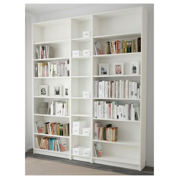 "BILLY Bookcase, white, 78 3/4x11x93 1/4 """