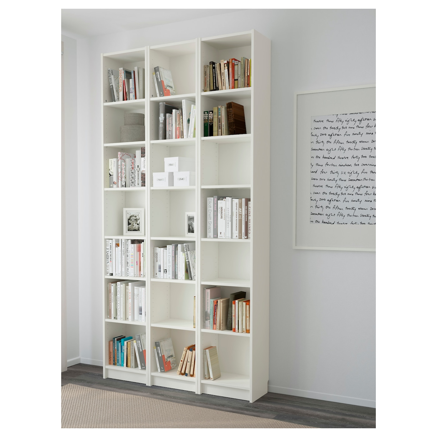 Image of: Billy Bookcase White 47 1 4x11x93 1 4 Ikea