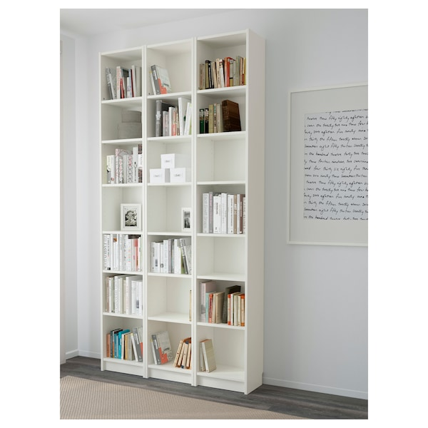 BILLY Bookcase, white, 47 1/4x11x93 1/4 ""