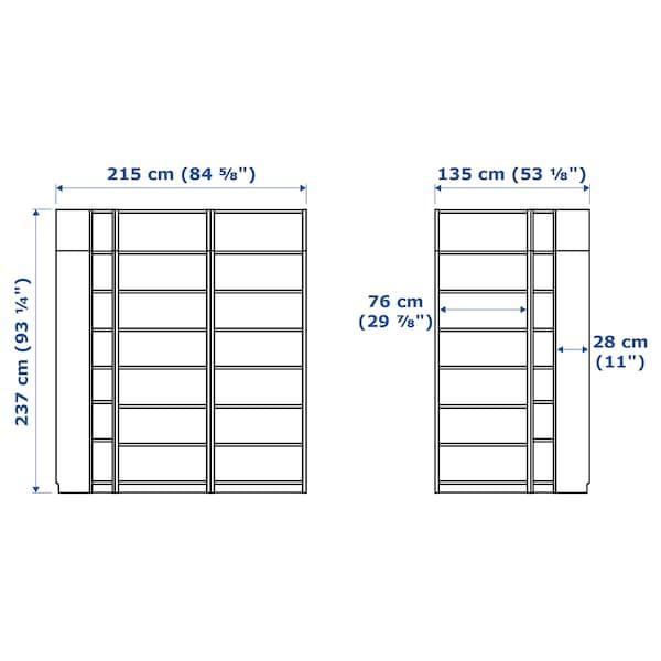 "BILLY Bookcase, white, 84 5/8/53 1/8x11x93 1/4 """