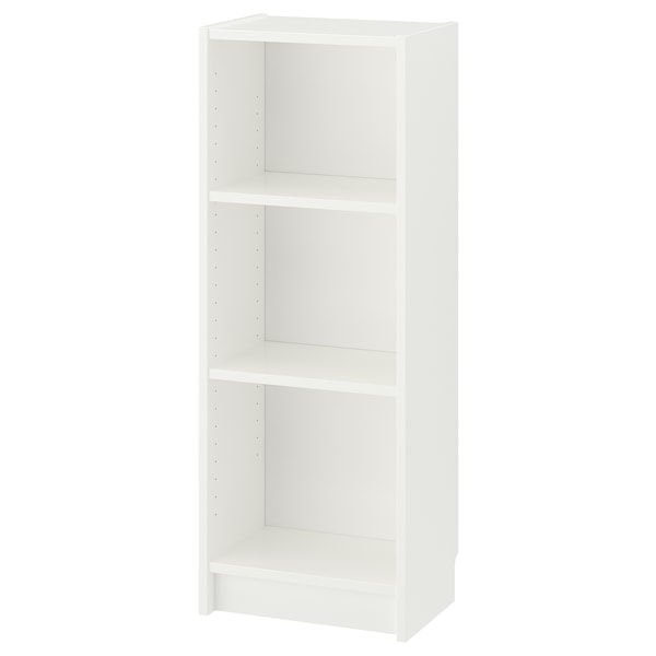 BILLY Bookcase, white, 15 3/4x11x41 3/4 ""