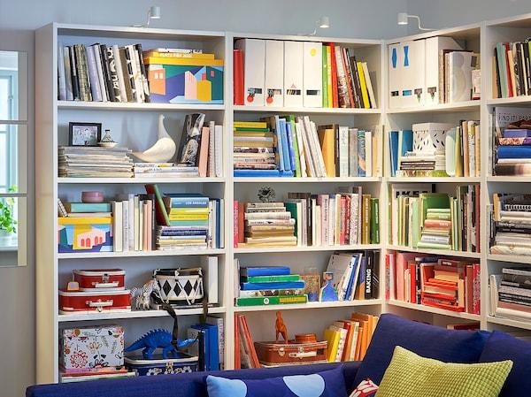 "BILLY Bookcase, white, 31 1/2x11x79 1/2 """