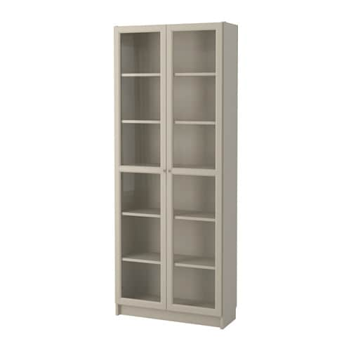 billy bookcase with glass doors beige ikea. Black Bedroom Furniture Sets. Home Design Ideas