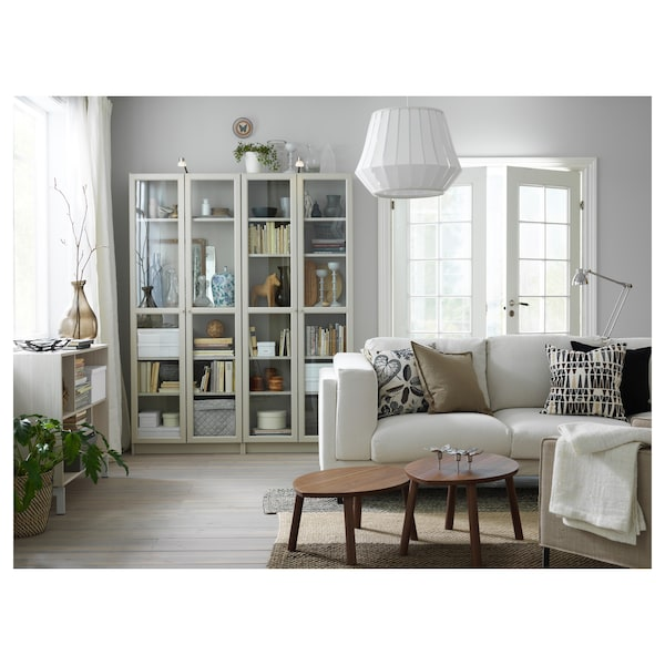 Bookcase with glass doors BILLY beige