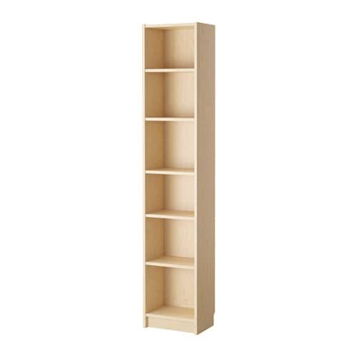 BILLY Bookcase, birch veneer birch veneer 15 3/4x11x79 1/2