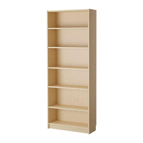 Billy bookcase birch veneer ikea for Ikea wooden bookshelf