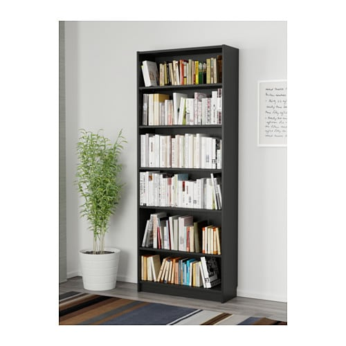 IKEA BILLY Bookcase, Black-Brown/Birch-Veneer/Brown Ash Veneer