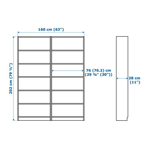 - BILLY Bookcase - White - IKEA