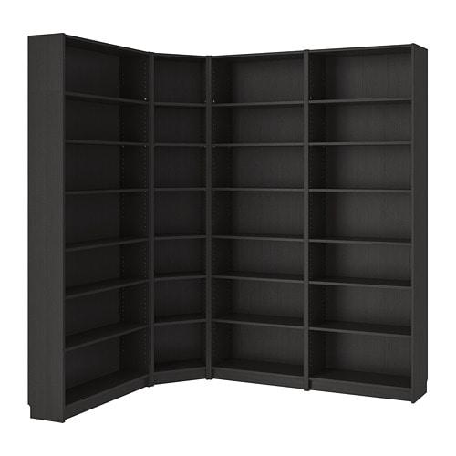 BILLY Bookcase, black-brown black-brown 84 5/8/53 1/8x93 1/4x11
