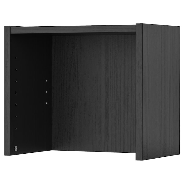 BILLY Height extension unit, black-brown, 16x11x14 ""