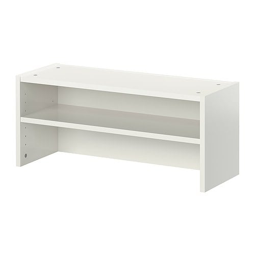 BILLY Height extension unit IKEA Using a height extension unit the wall surface is fully utilized while floor space is cleared.