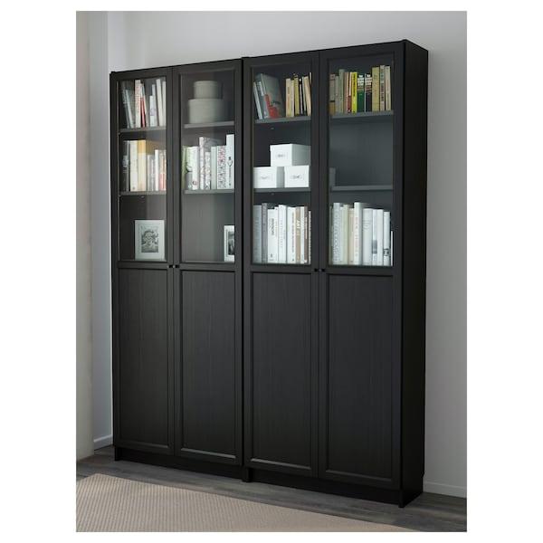 "BILLY / OXBERG Bookcase, black-brown, 63x11 3/4x79 1/2 """