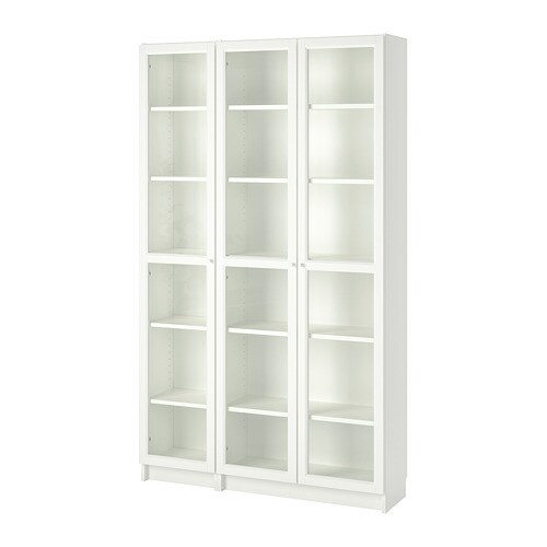 billy oxberg bookcase with glass doors white ikea. Black Bedroom Furniture Sets. Home Design Ideas