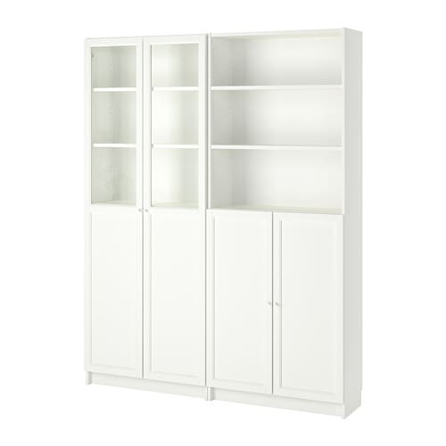 Incroyable BILLY / OXBERG Bookcase With Panel/glass Doors, White
