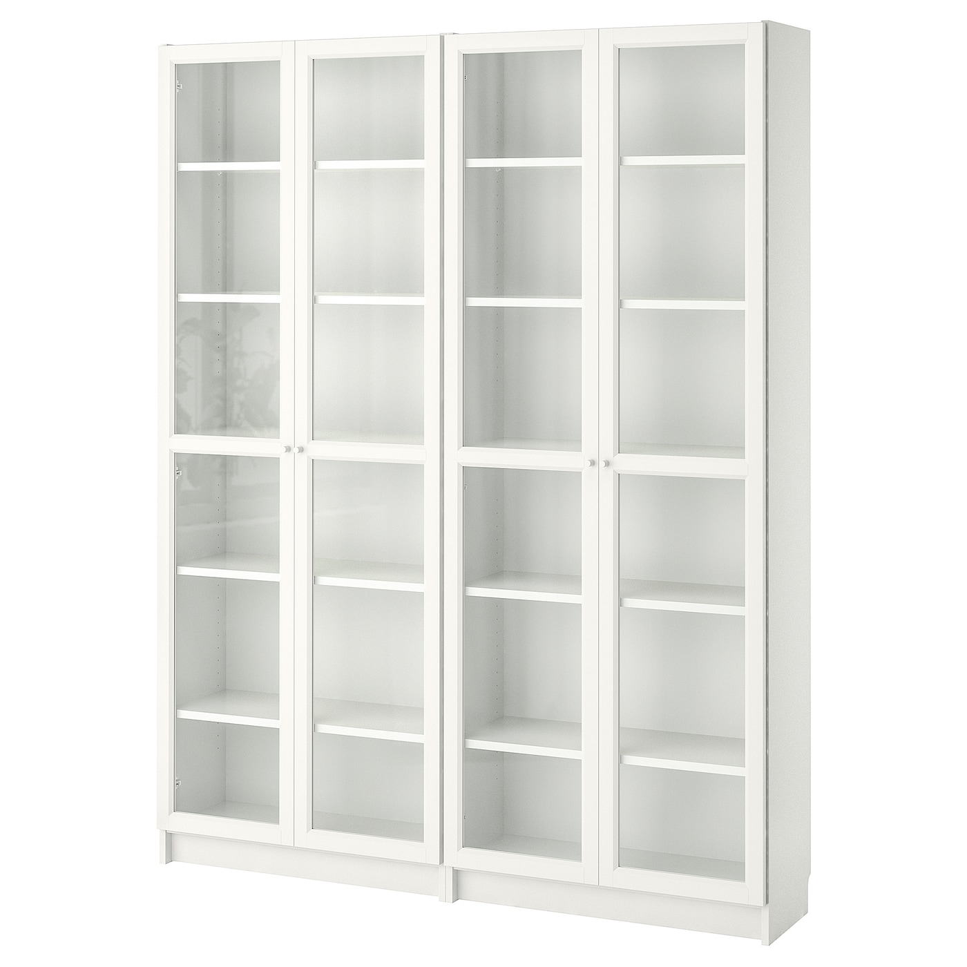 Bookcase Billy Oxberg White Glass