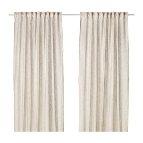 BIRTINE Curtains, 1 Pair