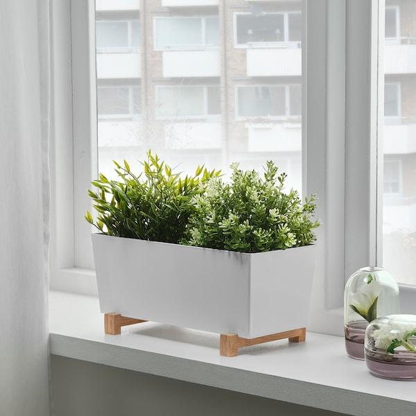 """BITTERGURKA Plant pot, white, 12 ½x6 """""""