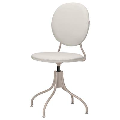 BJÖRKBERGET Swivel chair, Idekulla beige