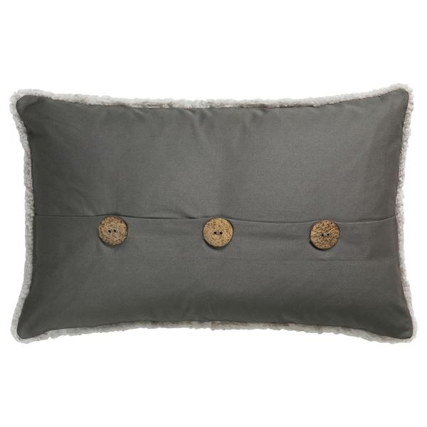 "BJÖRKSNÄS cushion cover sheepskin light gray 26 "" 16 """