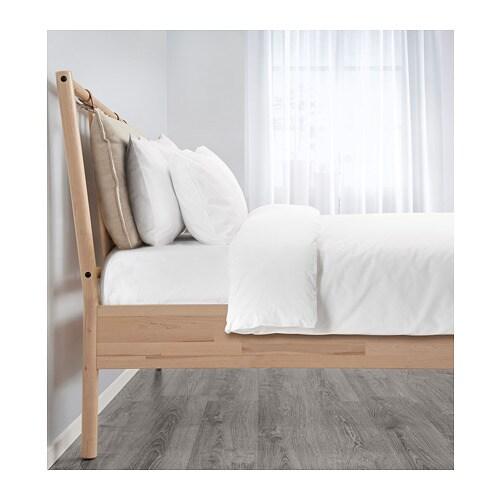 Bjorksnas Bed Frame Queen Luroy Ikea