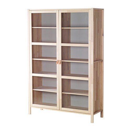 Bj 214 rksn 196 s glass door cabinet with 2 doors ikea solid wood is a