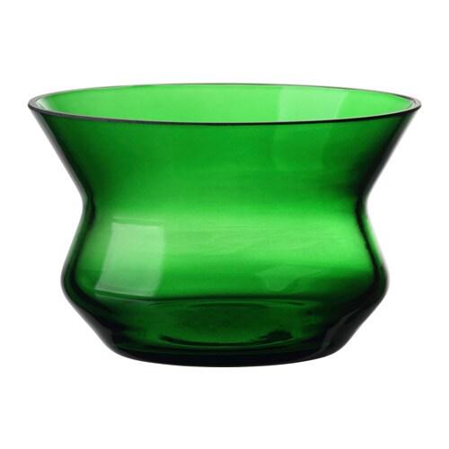 BJÖRKSNÄS Tealight holder, glass green