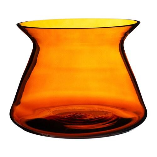 BJÖRKSNÄS Vase, glass orange