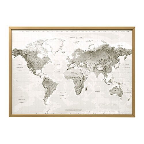 BJÖRKSTA Picture And Frame Brass Color IKEA - Ikea us map