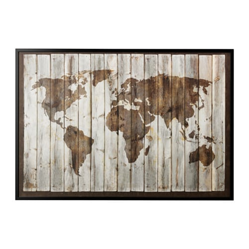Us Map Picture Frame.Bjorksta Picture And Frame Black Ikea