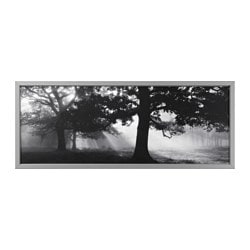BJÖRKSTA picture and frame, Meadow Dream II, aluminum color