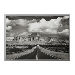 BJÖRKSTA picture and frame, Superstition mountains, USA, aluminum color
