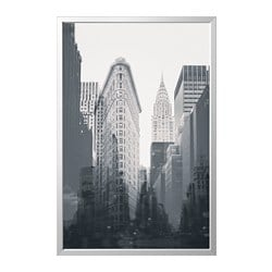 BJÖRKSTA picture and frame, New York City, aluminum color