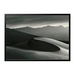 BJÖRKSTA picture and frame, Desert, black