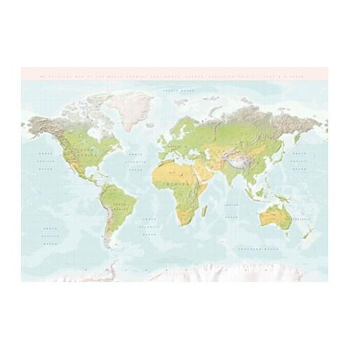 BJÖRKSTA Picture, planet earth on ikea wall map, ikea woodbridge map, paramus new jersey map,