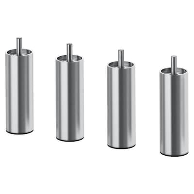 "BJORLI leg stainless steel 1 1/2 "" 3 7/8 "" 4 pack"