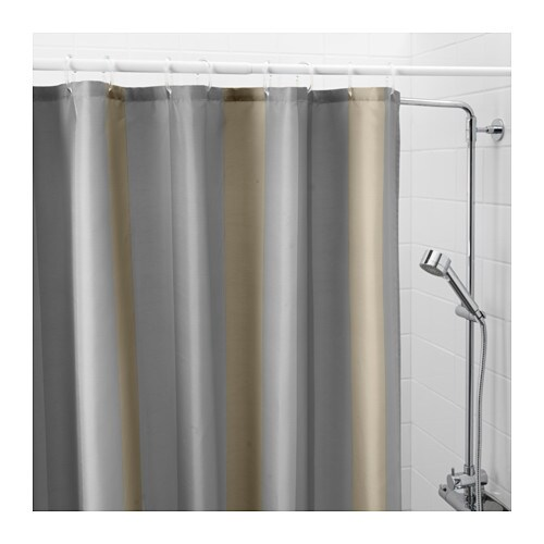 BJORNAN Shower Curtain IKEA Densely Woven Polyester Fabric With Water Repellent Coating