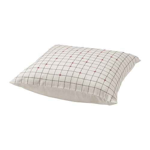 BJÖRNLOKA RUTA Cushion cover IKEA Cover is made of ramie; a hard-wearing and absorbent natural material.