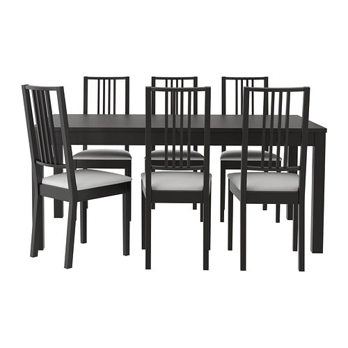 bjursta b rje table and 6 chairs ikea. Black Bedroom Furniture Sets. Home Design Ideas