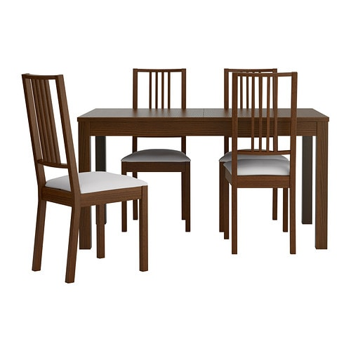 Bjursta b rje table and 4 chairs ikea for Ikea dining table and chairs set