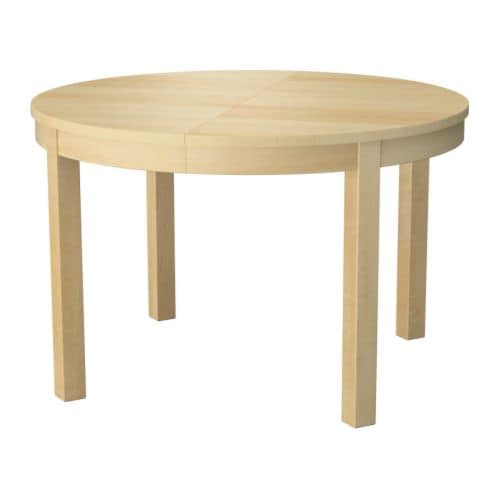 BJURSTA Extendable table IKEA Extendable dining table with 1 extra leaf seats 4-6; makes it possible to adjust the table size according to need.
